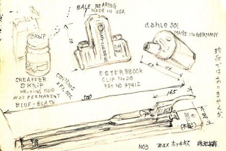 コーリン色鉛筆04 文具王親父のハガキ