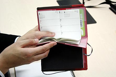 超整理手帳4回 ポケットに収まるA6手帳カバー2