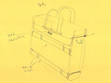 文具王さんが書いたモバイラーズバッグのスケッチ2