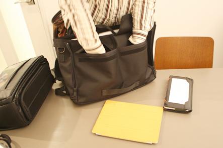 ビジネスバッグ ポケット1