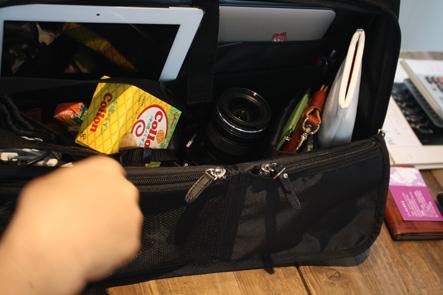 MacBook Air13インチ用のバソコンバッグの内側を検討1