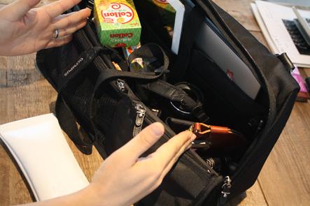 MacBook Air13インチ用のバソコンバッグの内側を検討2