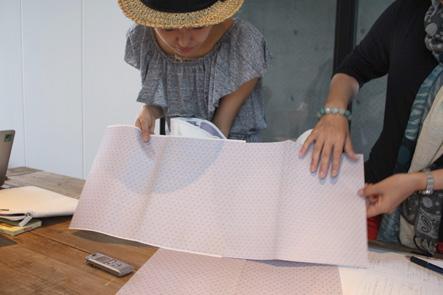 バッグのデザインの柄のサイズ