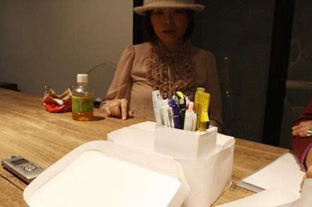 ペンケースにペンをセットしたらピッタリサイズ
