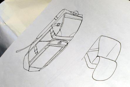 理想のリュックのデザイン案 ひらくPCバッグ型