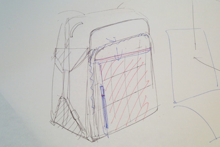 理想のリュックのデザイン案3