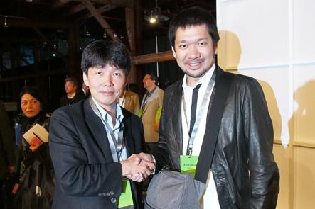 evernoteカンファレンスで情報通信技術(IT)政策担当の山本一太氏と南さん