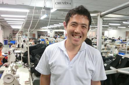 ベトナム工場長のツザキさん