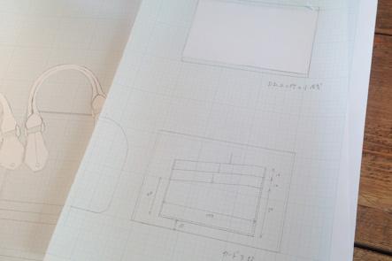 財布部分とカード部分のデザイン案