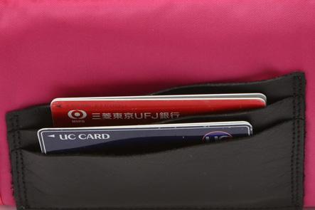 お財布ポシェットのカード部分の強度アップ