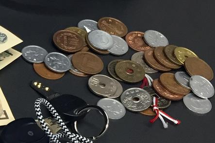 お財布ポシェットの小銭入れの収納量