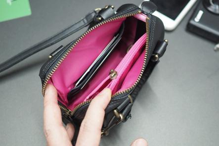 お財布ポシェットの内部