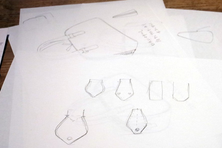 ミニボストンバッグのネカワのデザインのイラスト1