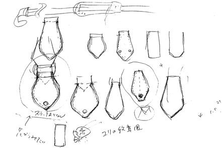 ミニボストンバッグのネカワのデザインのイラスト2