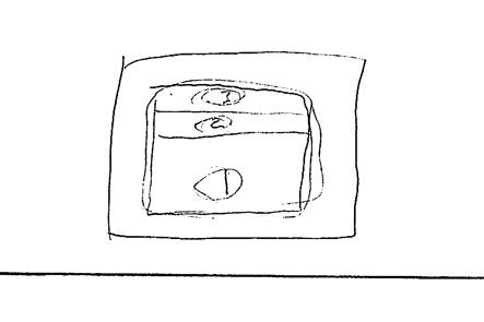 ミニボストンバッグの財布部分のデザイン案