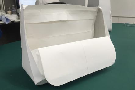 ひらくPCバッグnanoの紙サンプルを更に改良