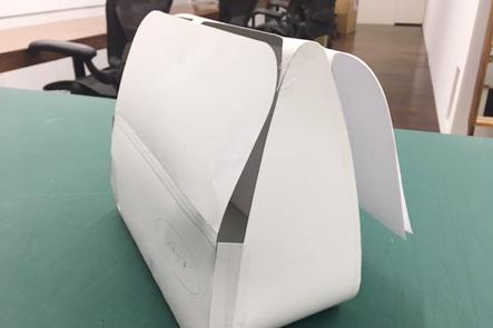 ひらくPCバッグnanoの紙サンプルのバージョンアップ、横面