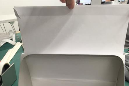 ひらくPCバッグnanoの紙サンプルのバージョンアップ、PCケース