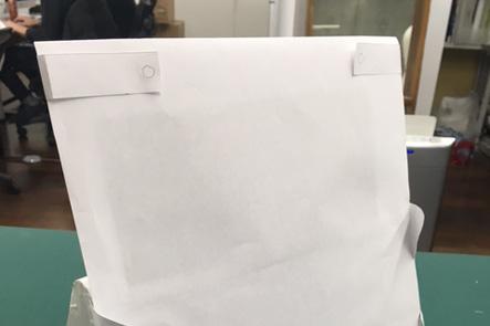 ひらくPCバッグnanoの紙サンプルのバージョンアップ、PCケースとめ方