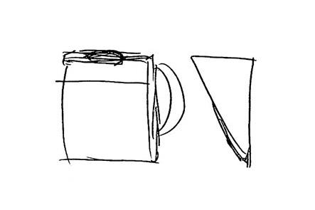 ひらくPCバッグのリュック版アイデア1 ボブルビータイプ