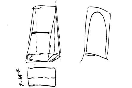 ひらくPCバッグのリュック版アイデア3 紙袋タイプ