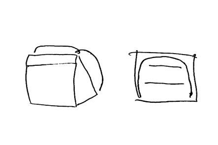 ひらくPCバッグのリュック版アイデア4 薄いリュック